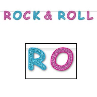 Decoration Rock & Roll (2,40 m)   Achat / Vente BANDEROLE   BANNIERE