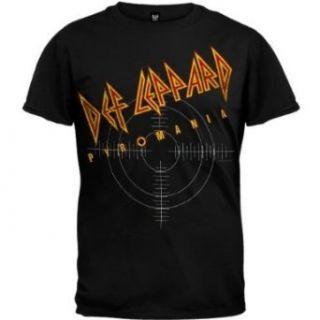 Def Leppard On Target Lightweight Black T Shirt (X Large