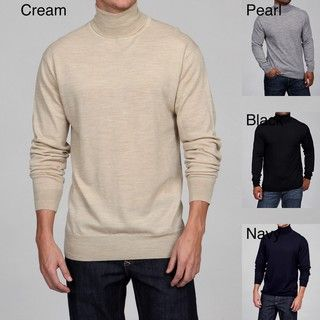 Poeta Moda Mens Merino Wool Turtleneck Sweater FINAL SALE