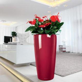 Lechuza Rondo 40 Rouge brillant kit complet   Achat / Vente JARDINIERE