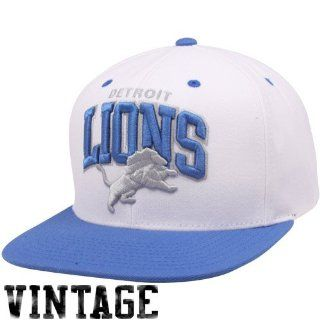 Mitchell & Ness Detroit Lions White Light Blue Arch Two