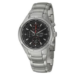Seiko Mens Alarm Chronograph Stainless Steel Chronograph Watch