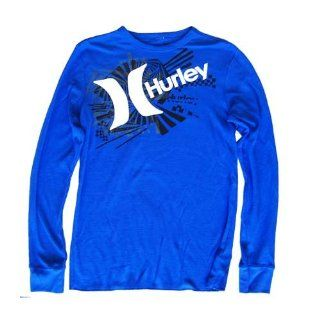 Hurley Blue Long Sleeve Thermal Tee Shirt, Extra Large