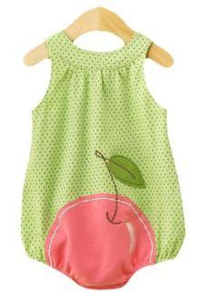 First Boutique® Baby Girls Cherry Sun Dress, Green/White