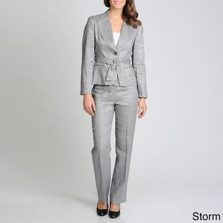 Sharagano Suits Womens 2 button Straight Leg Pant Suit