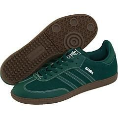 Adidas Originals Mens Samba Denim Forest/ White Athletic Shoes