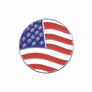 Golf Ball Marker   Classic   American Flag Sports