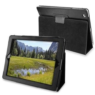 Black Leather Case with Stand for Apple iPad 2