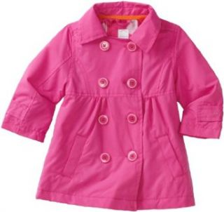 Carters Baby Girls Infant Polka Dot Solid Trench, Pink, 18
