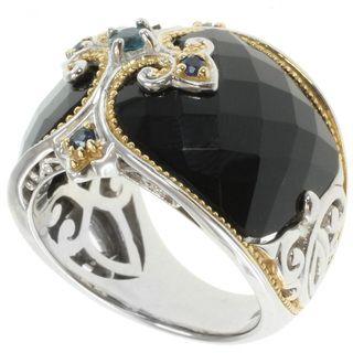 Michael Valitutti Two tone Black Onyx Ring