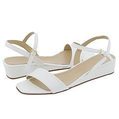 Prari Bertha White Patent Sandals