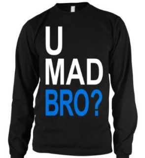 U Mad Bro? Mens Thermal Shirt, Big and Bold Funny