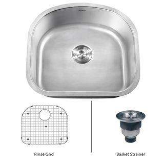 Ruvati 16 gauge Stainless Steel 23 inch Single Bowl Undermount Kitchen