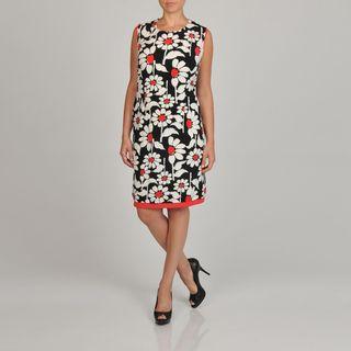 Lennie for Nina Leonard Womens Plus size Floral print Sheath Dress
