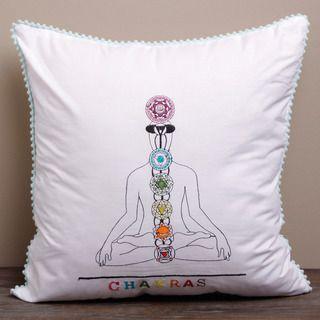 Spiritual Journey Chakras Cushion Cover (India)