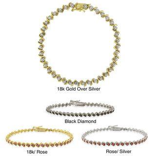 DB Designs White, Black, or Champagne Diamond Tennis Bracelet