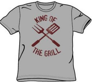 King of the Grill T shirt Funny Barbeque BBQ Tee Shirt