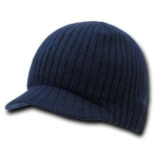 Decky Navy Blue Deluxe Campus Jeep Cap Beanie Visor, One