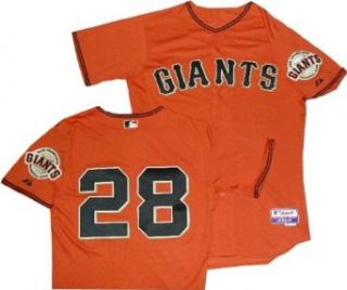 San Francisco Giants Buster Posey Authentic Orange Cool