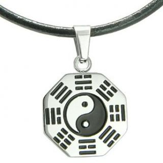 Amulet Yin Yang BA GUA Eight Trigrams Stainless Steel