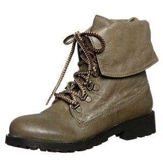 Diba Womens Miss Me Taupe Combat Boots FINAL SALE