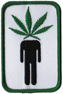 Novelty Iron on   Weed Marijuana Pot Head Leaf Patch