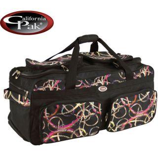 CalPak Challenger Black Whirlwind 31 Inch Rolling Duffel Bag