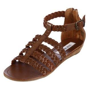 Steve Madden Womens Paggan Cognac Flat Sandals FINAL SALE FINAL