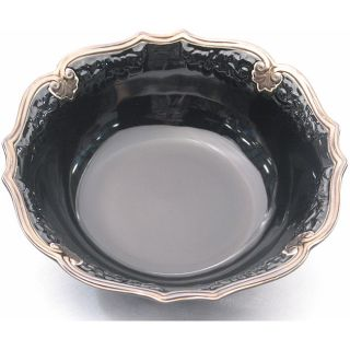 Certified International Regency 13 inch Black Pasta Bowl