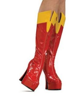 Women Large (9 10) Super Sexy Supergirl Boots Clothing