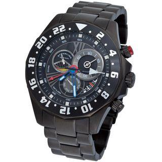 Stuhrling Original Mens Nautico Dual Time Zone Swiss Quartz Watch