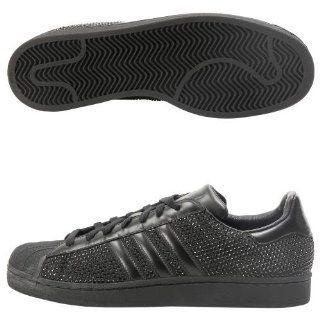 Superstar 1 Swarovski Crystal Black Mens Retro Shoes   013613 Shoes