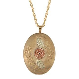 Black Hills Gold Dakota Rose Locket Necklace