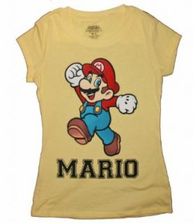 Super Mario Junior Girls Yellow T Shirt Clothing