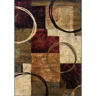 Brown/ Black Contemporary Area Rug (10 x 13)