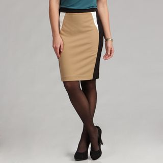Calvin Klein Womens Color Block Ponte Skirt FINAL SALE