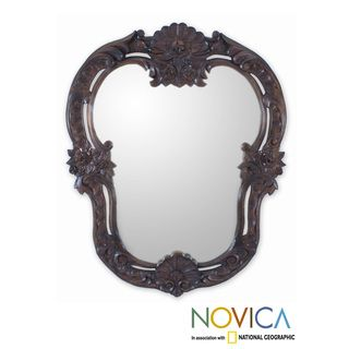 Handcrafted Cedar Mexican Manor House Mirror (Mexico)