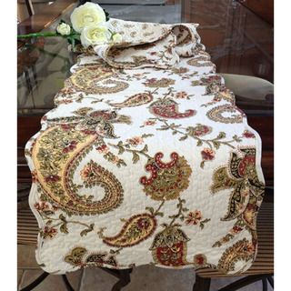 Paisley Quilted Cotton Table Runner