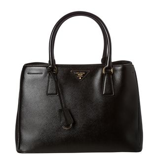 Prada Gardeners Small Black Saffiano Leather Tote Bag