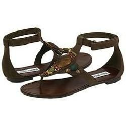 Steve Madden Sladde Brown Leather Sandals