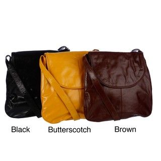 Latico Front flap Leather Crossbody Bag