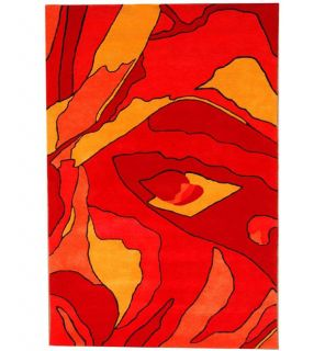 Hand tufted Red Rose Wool Rug (8 x 106)
