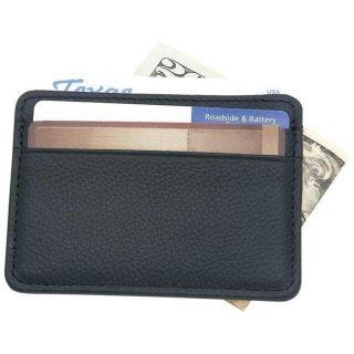 Embassy Mens Black Leather Clip Wallet