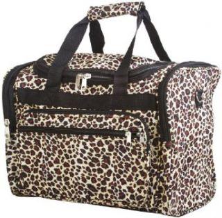 16 Leopard Print Duffle Dance Gym Bag Travel Luggage