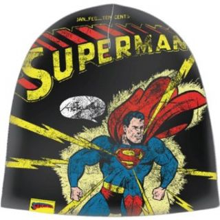 Superman Distressed Print Beanie Knit Cap Clothing