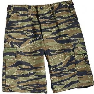 Tiger Stripe Camouflage Military BDU Cargo Shorts 7085