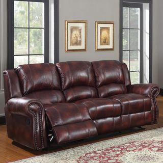 Canvey Burgundy Double Reclining Sofa