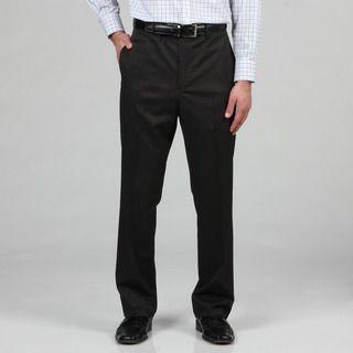 Marc Ecko Mens Trim Fit Black Pindot Dress Pants