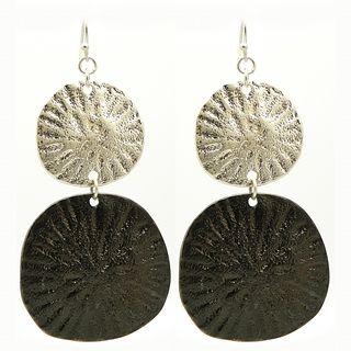 Pretty LIttle Style Two Tone Sand Dollar Earrings