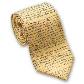 Emancipation Procalmation   Mens Silk Necktie in Gold